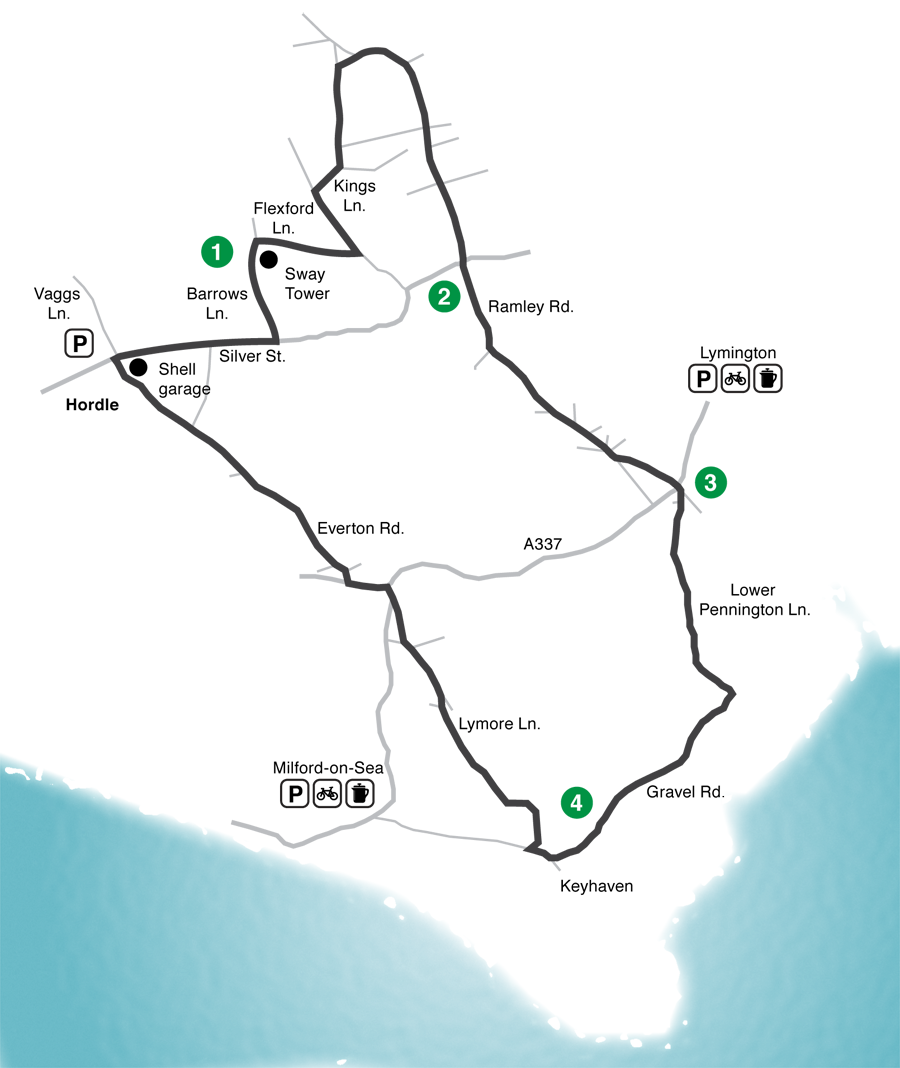 Keyhaven road cycling route